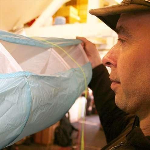 Paraglider inspection